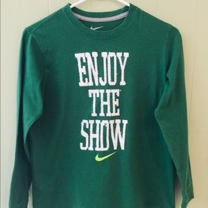 Nike Forest Green Youth T Shirt boys girls sports